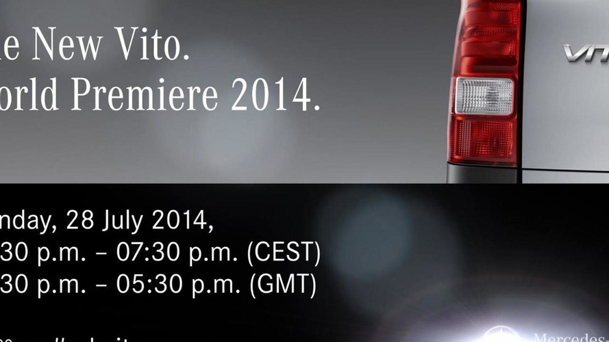 2015 Mercedes Vito teased, debuts on July 28th