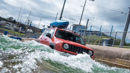 Jeep Renegade tackles an Olympic white water rafting course