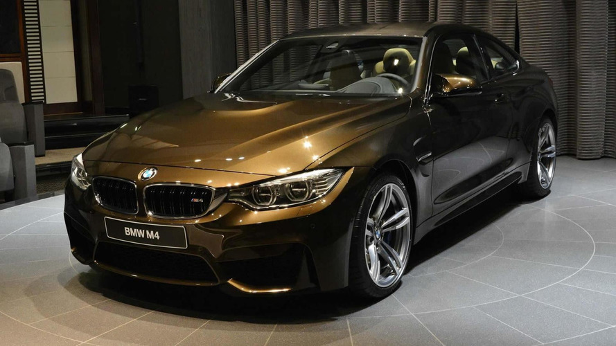 BMW M4 Coupe pampered with Pyrite Brown metallic Individual paint