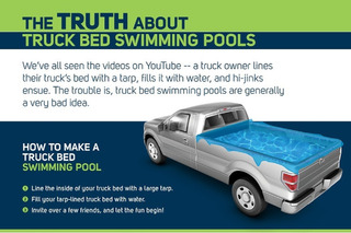 Why You Really Shouldn't Turn Your Truck Bed into a Swimming Pool