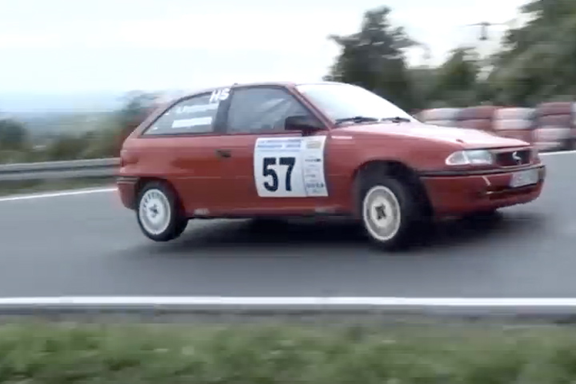 Racer Drives his Opel Hatchback Beyond the Limit [Video]