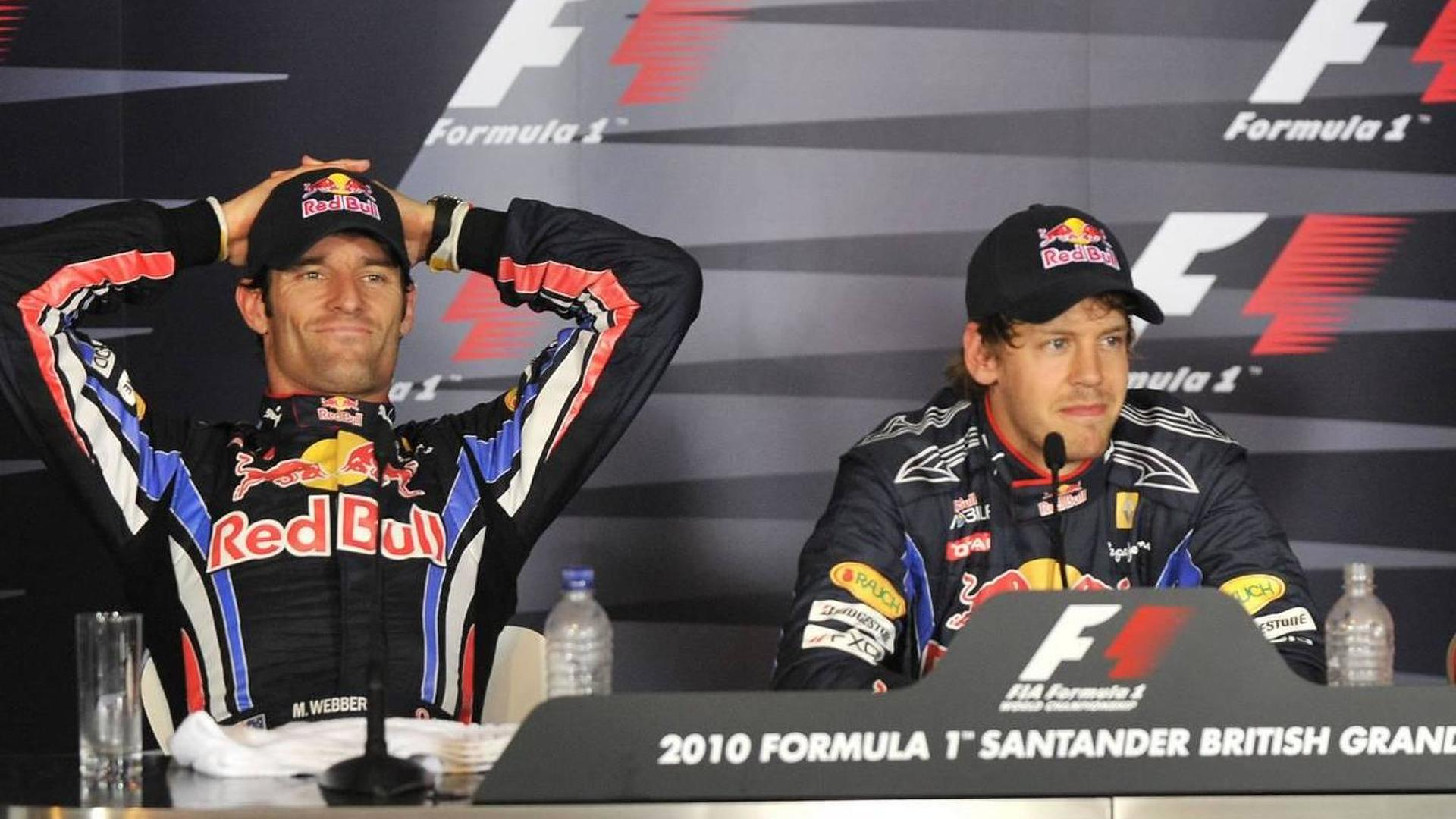 Webber furious after losing new wing to Vettel - RESULTS