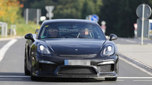 Porsche Cayman GT4 prototype flaunts its  rear wing in latest spy shots