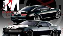 Fesler Moss 2010 Camaro SS design sketches