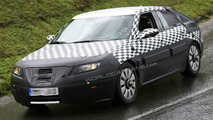 2010 Saab 9-5 sedan spy photos in the Alps