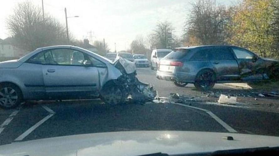 Aftermath photo of David Beckham's Audi RS6 Avant crash emerges