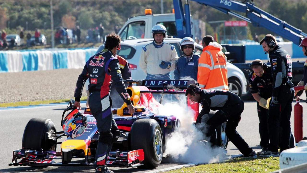Daniel Ricciardo Red Bull RB10  Formula One Testing Jerez Spain