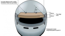 Zylon strip helmet placement illustration