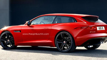 Jaguar F-Type Shooting Brake render