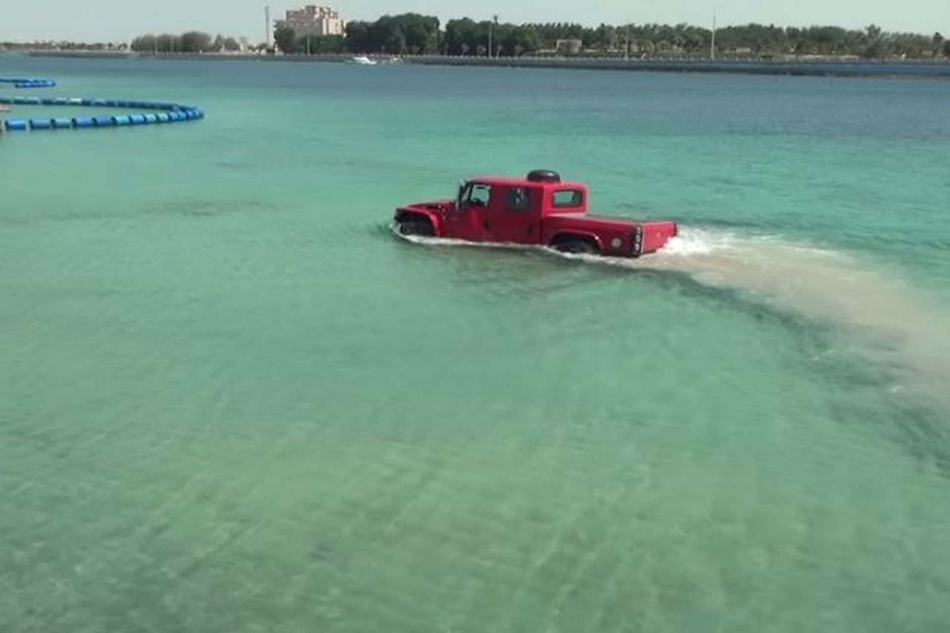 Watch This Tough Truck Drive into the Ocean Intentionally