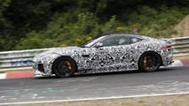 Jaguar F-Type SVR prototype spied hiding production body on the 'Ring