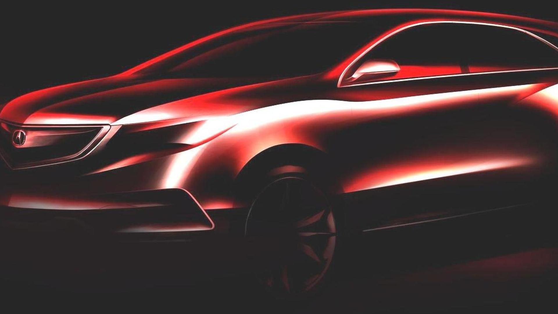 2014 Acura MDX Prototype teased for Detroit debut