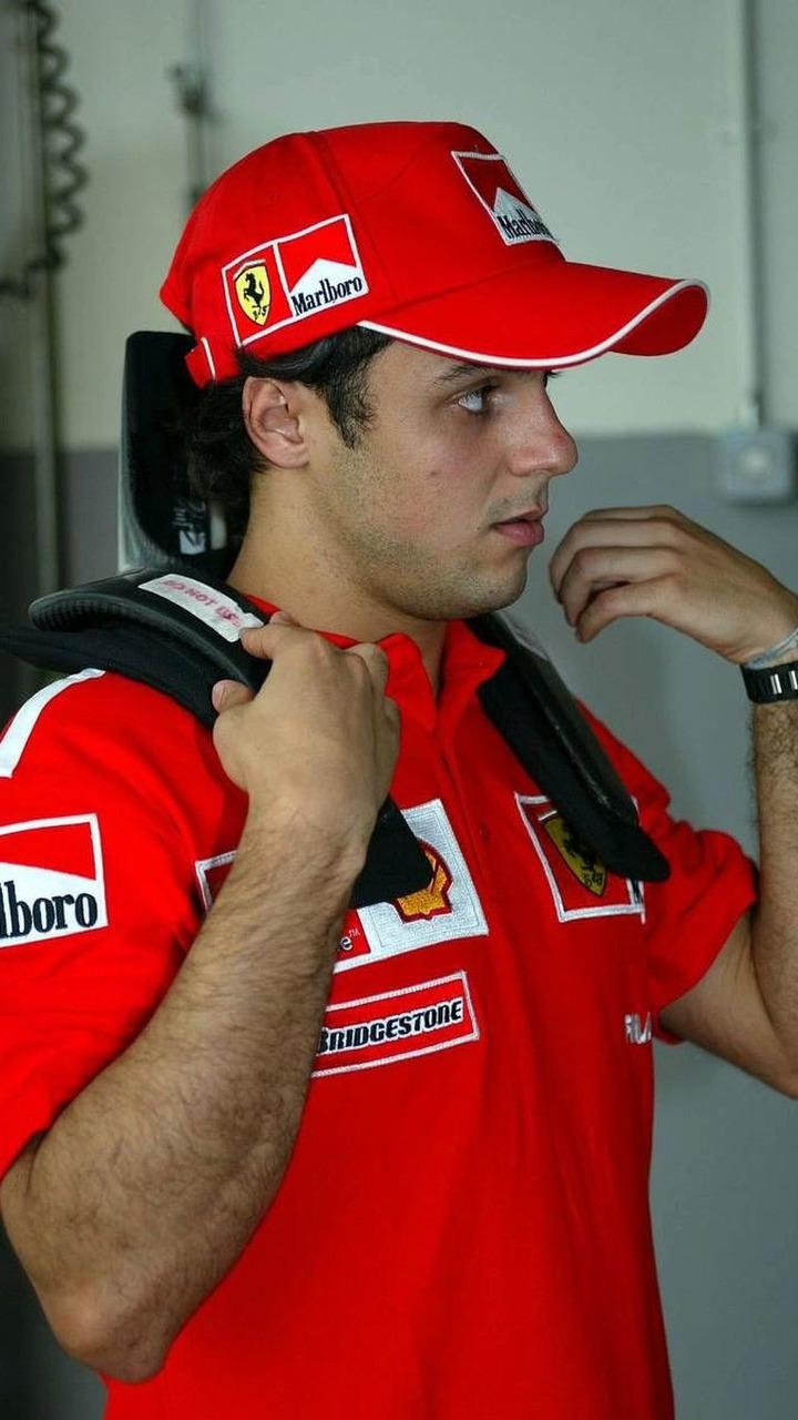 Felipe Massa (Ferrari) test HANS, Sepang International Circuit, Malaysian grand prix, Kuala Lumpur, 23.03.2003 Sepang, Malaysia