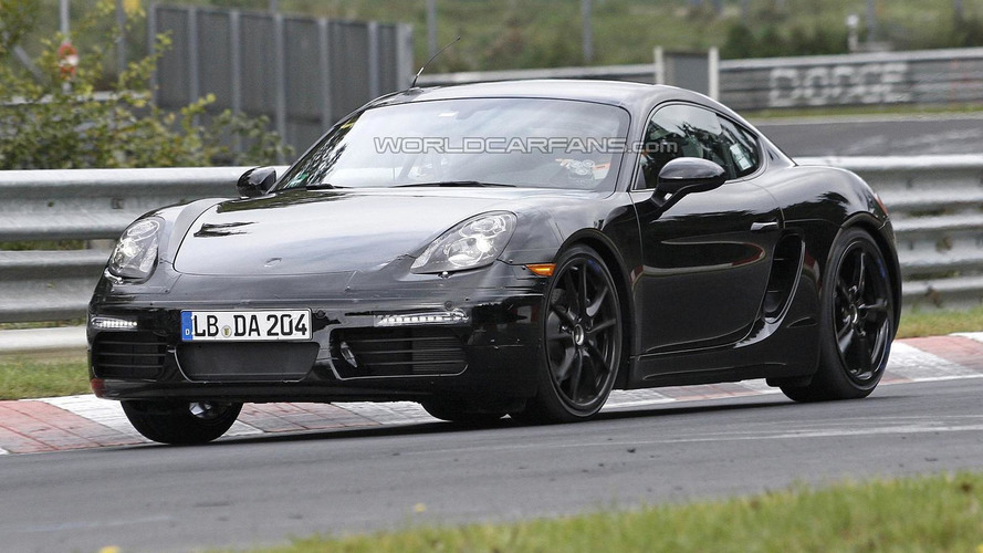 Porsche Cayman facelift spied in action on the Nurburgring [video]