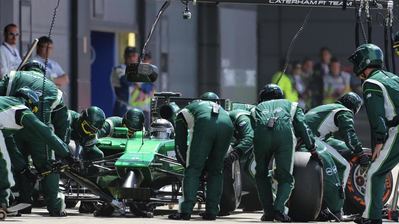 Caterham F1 Team during pitstop, 06.07.2014, Formula 1 World Championship, Rd 9, British Grand Prix, Silverstone / XPB