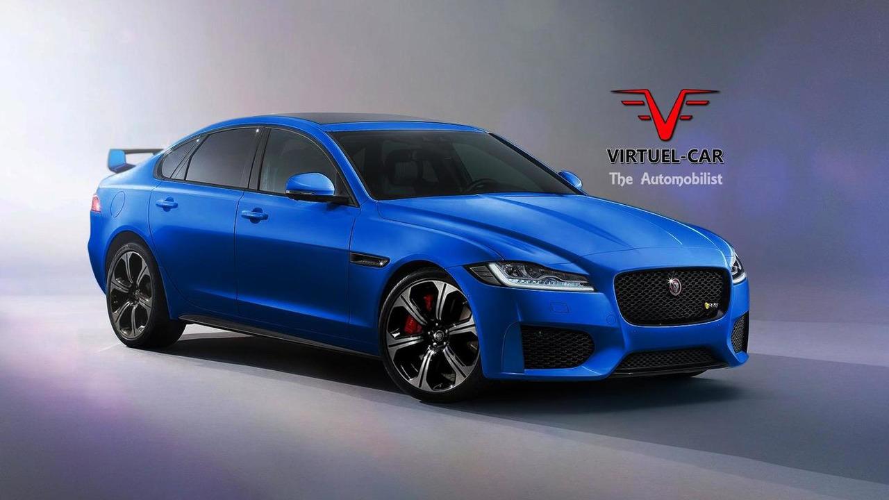 Jaguar XFR-S rendering / Khalil Bouguerra