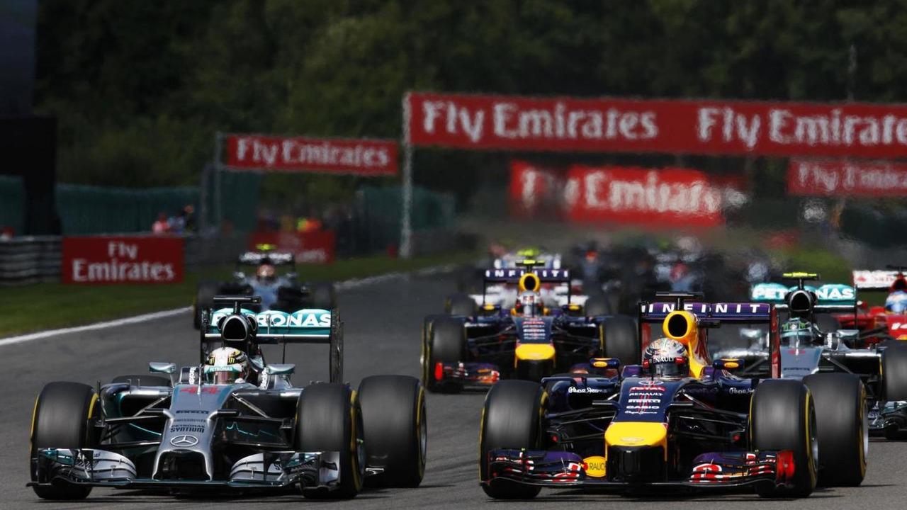 Lewis Hamilton (GBR) leads Sebastian Vettel (GER) / XPB