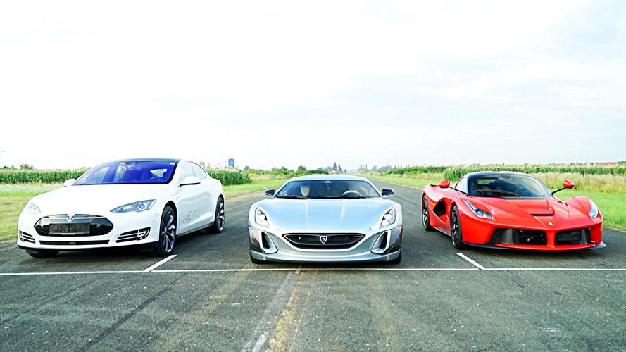 Rimac Concept_One takes on LaFerrari, Tesla Model S P90D in drag race