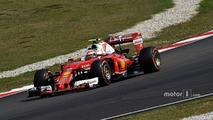 Raikkonen lost 0.3s per lap after Rosberg clash