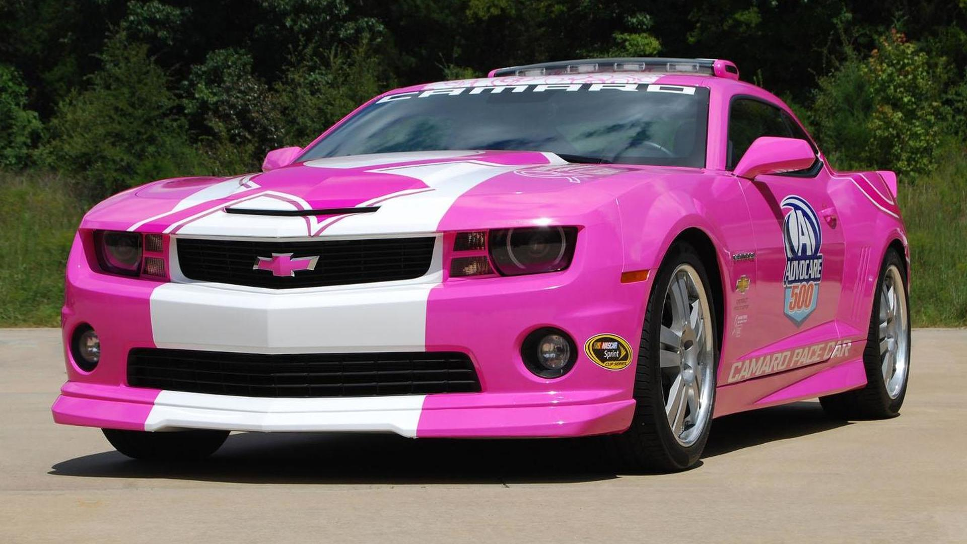 Chevrolet Camaro pace car goes pink for a cause