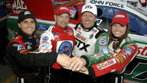 E. Medlen, R. Hight, John and Ashley Force