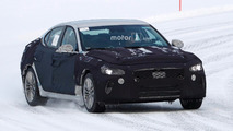 Genesis G70 spied testing with two different rears in the snow