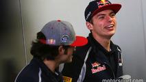 Carlos Sainz Jr., Scuderia Toro Rosso and Max Verstappen, Scuderia Toro Rosso