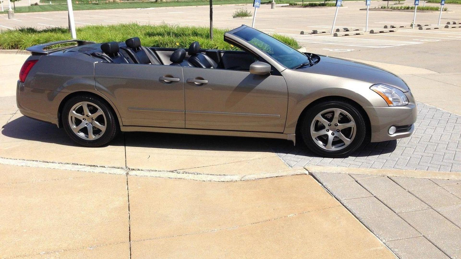 One-off Nissan Maxima convertible with suicide doors fails to sell on eBay