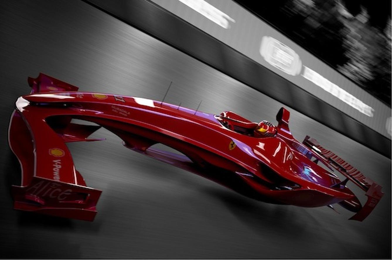 Ferrari F1 Hovercar Concept Foreshadows the Future of Motor Racing