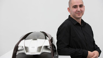 "Design student Robert Mucska from the Academy of Fine Arts and Design in Bratislava with his ""Wood Aerodynamics"" concept 26.11.2012"