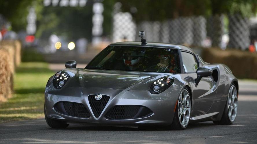 Alfa Romeo 4C draws crowds at Goodwood