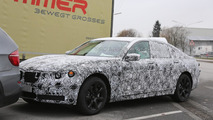 2015 BMW 7-Series spied up close showing a new look