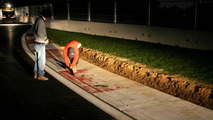 FIA to remove pit entry white line overnight