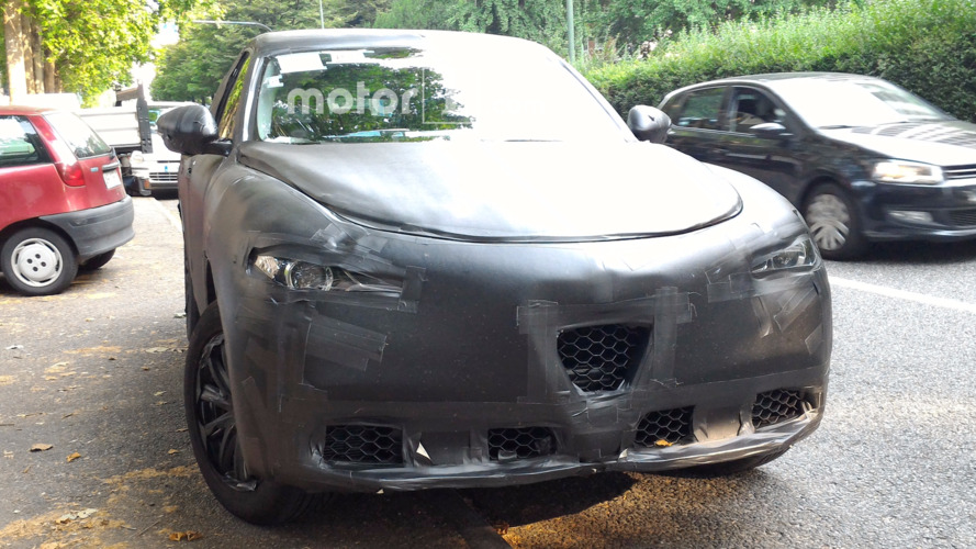 Alfa Romeo Stelvio spied inside and out