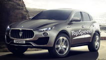 Maserati Levante gets rendered in production guise