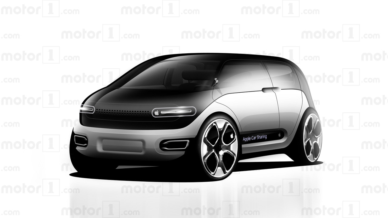 Apple Car rendering by Motor1