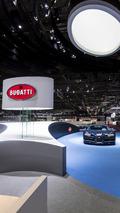 Bugatti stand at the 2017 Geneva Motor Show