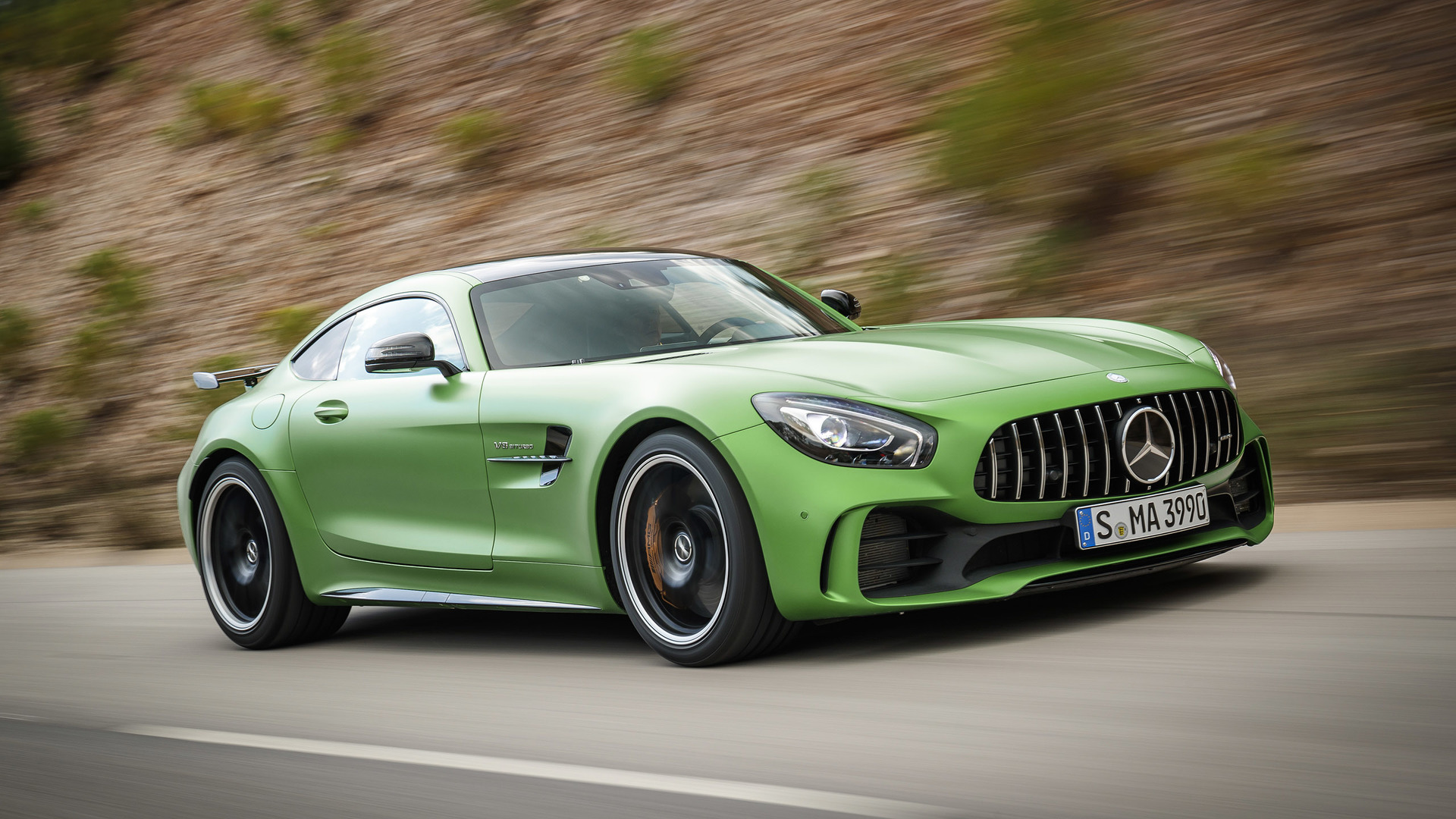 2018 mercedes amg gt r first drive the green monster of for Mercedes benz gtr amg 2017 price