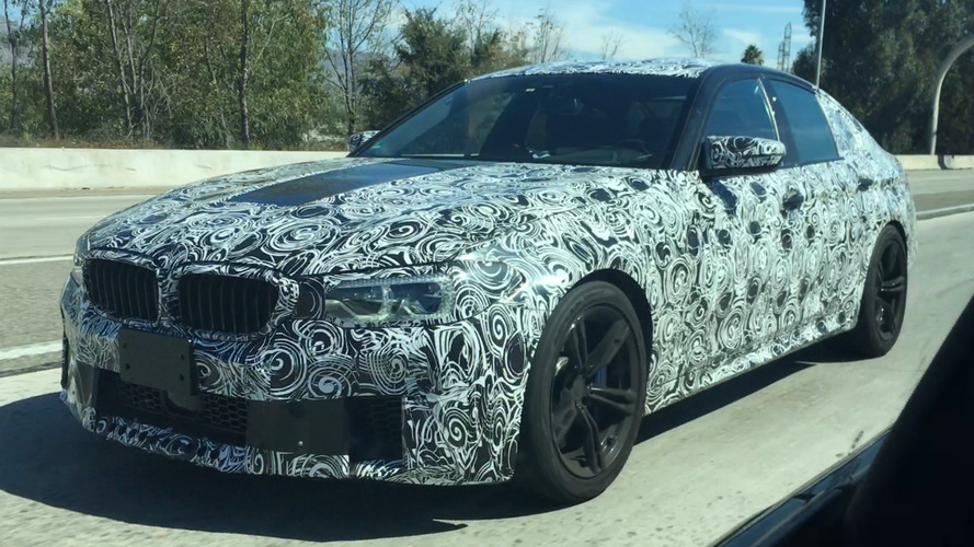 Reader films 2018 BMW M5 in California