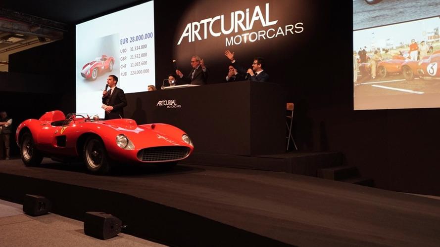 1957 Ferrari 335 Sport Scaglietti sells for $48M, most expensive ever [video]