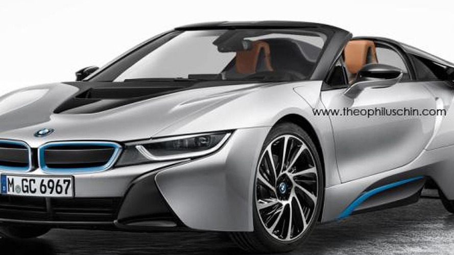 BMW i8 Spyder rendered