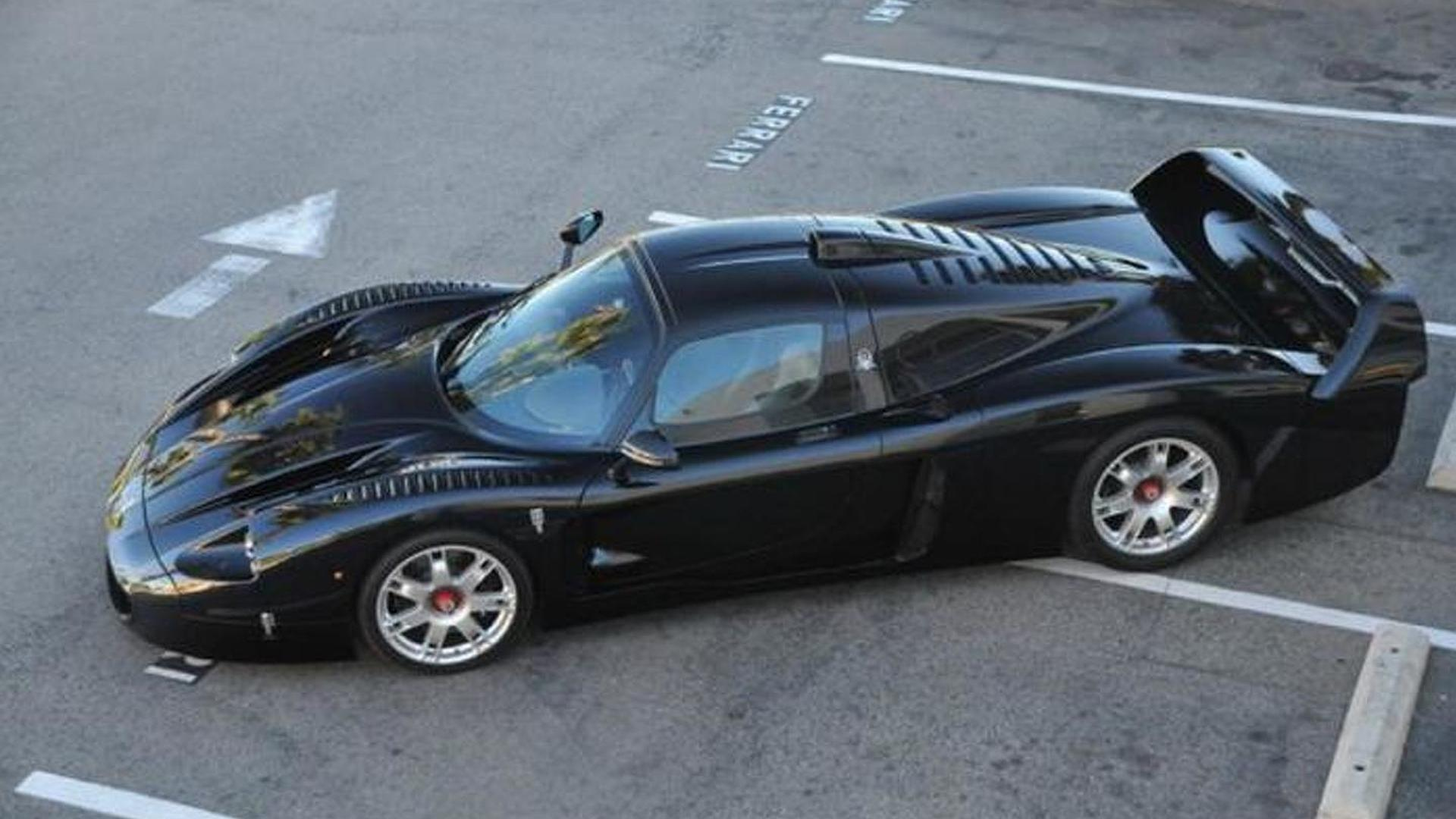 the only black maserati mc12 up for grabs in california. Black Bedroom Furniture Sets. Home Design Ideas