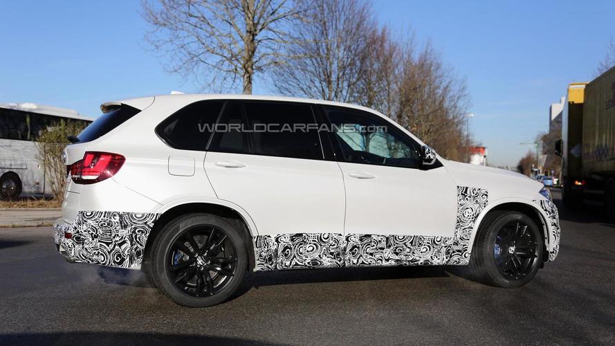2014 BMW X5 M spied with minimal camouflage
