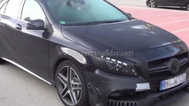 2016 Mercedes-Benz A45 AMG facelift spied on camera