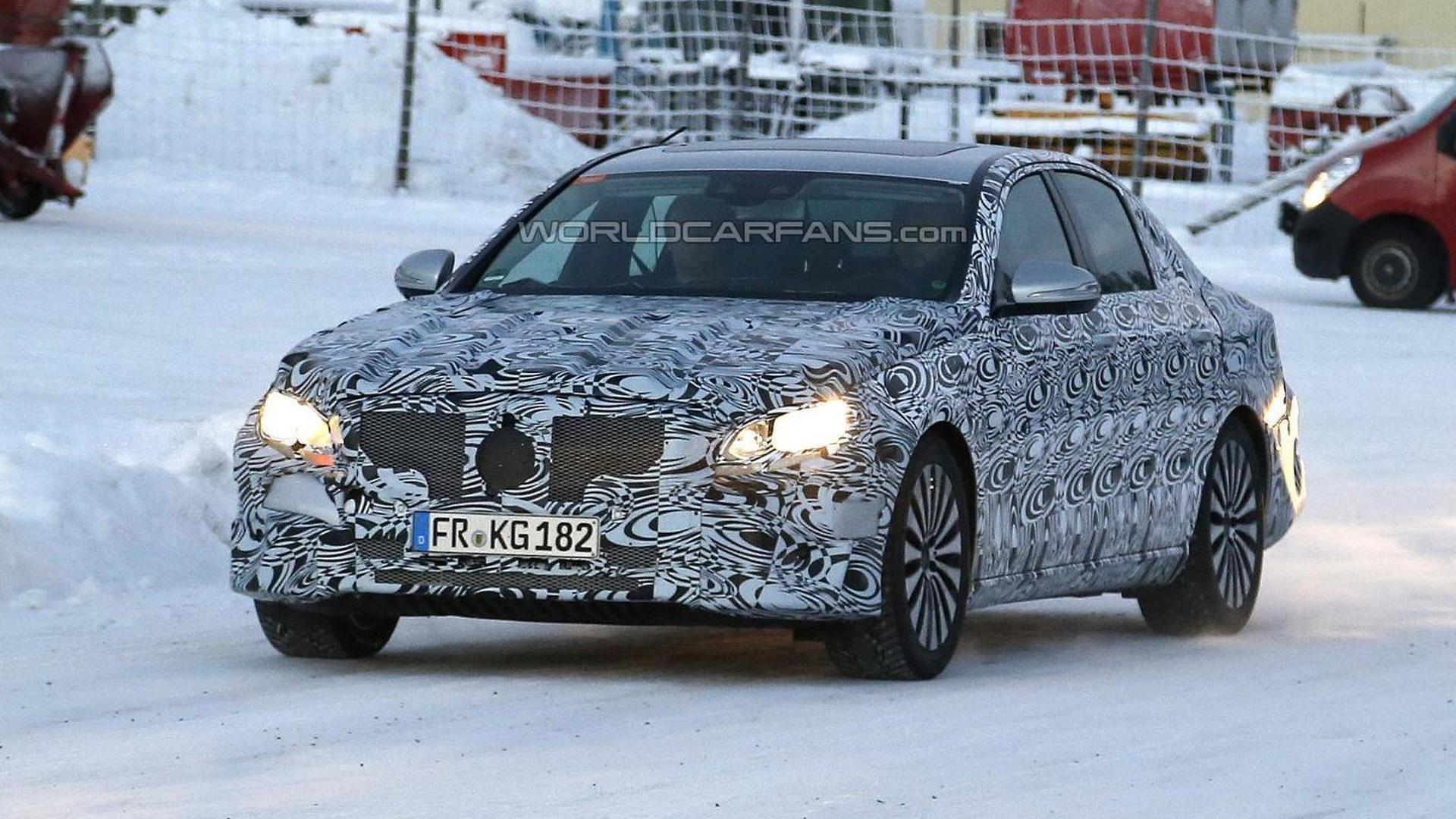 Next-gen Mercedes-Benz E-Class spied up close winter testing