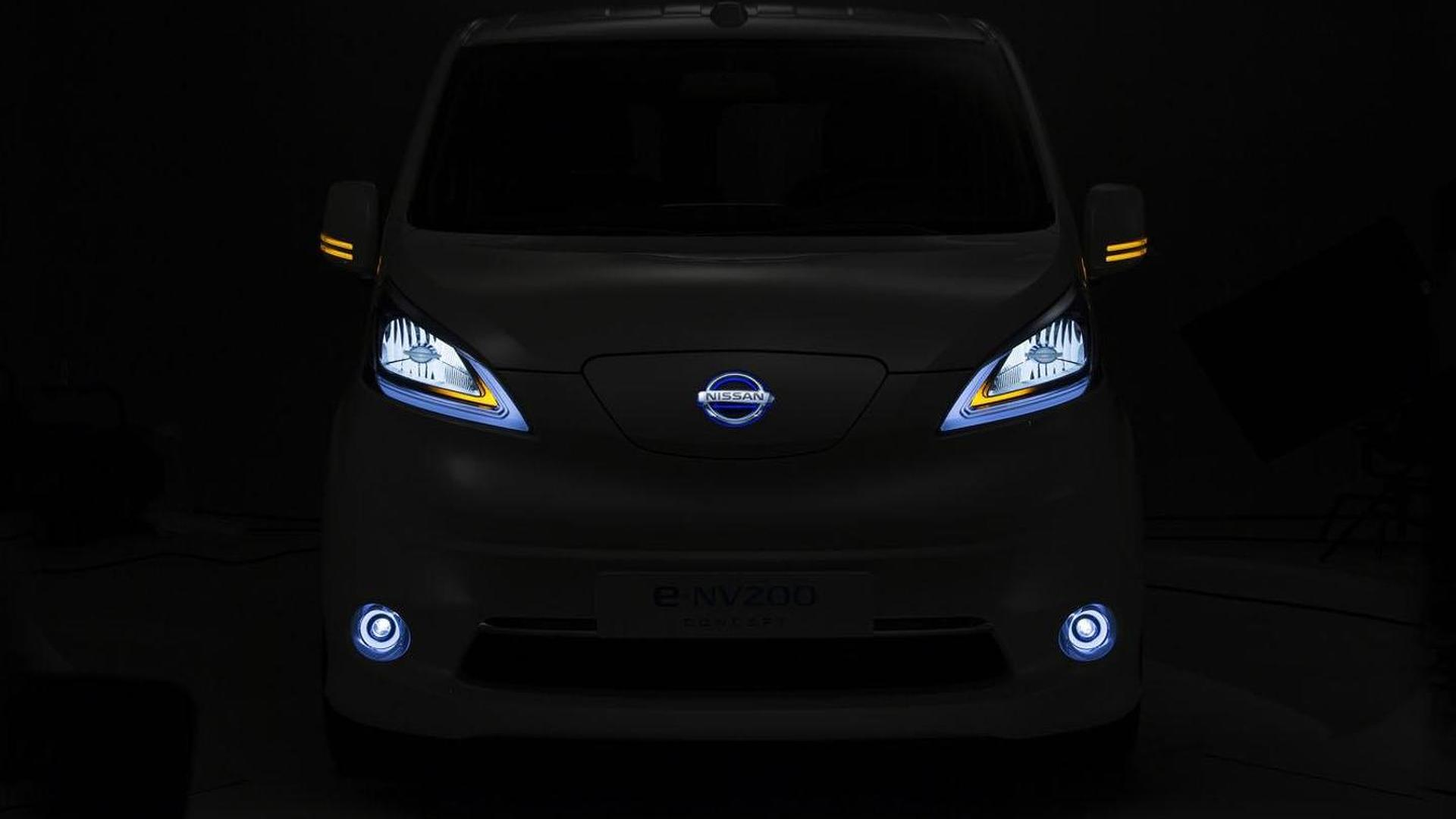 Nissan e-NV200 Panel Van concept teased for the Hanover Motor Show