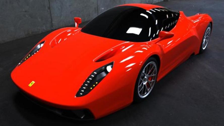 Ferrari F70 supercar speculatively rendered