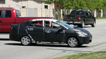 Ford Fiesta Sedan Spy Photos