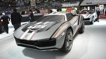 Italdesign Giugiaro Parcour with racing stripes at 2013 Geneva Motor Show