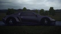 Porsche 9P1 concept 3D animation student project